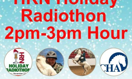2pm to 3pm- 2017 HRN Holiday Radiothon by Weatherbeeta, Certified Horsemanship Association