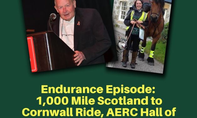Endurance Day:  1,000 Mile Scotland to Cornwall Ride, AERC Hall of Fame Inductee Dr. Baldwin, Apr. 09, 2019